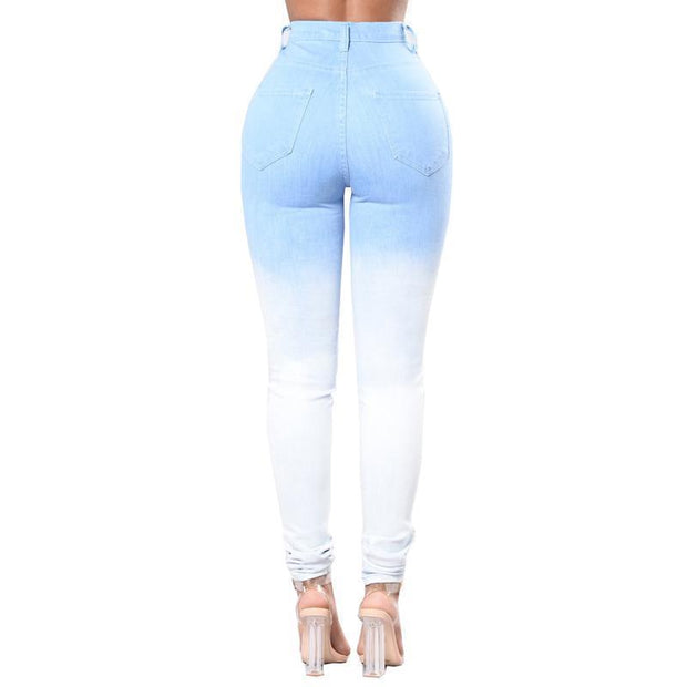 BISOUS WEAR SMALL / BLUE OMBRE CANDICE JEANS