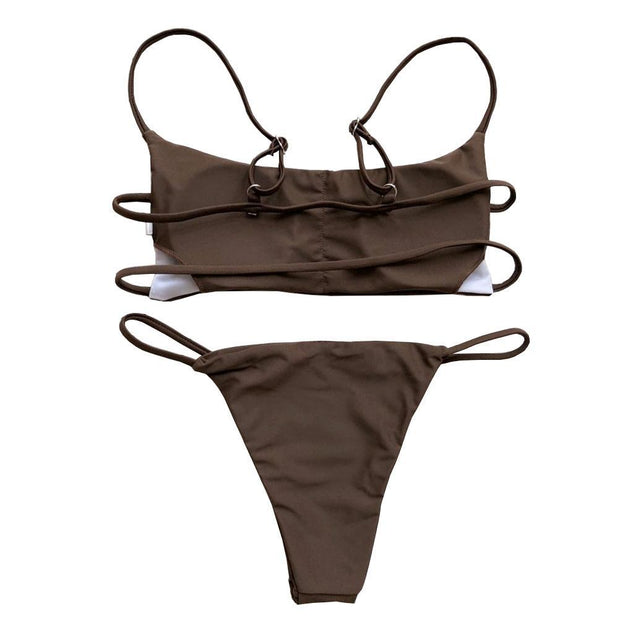 BISOUS WEAR Small / Brown HERA SET