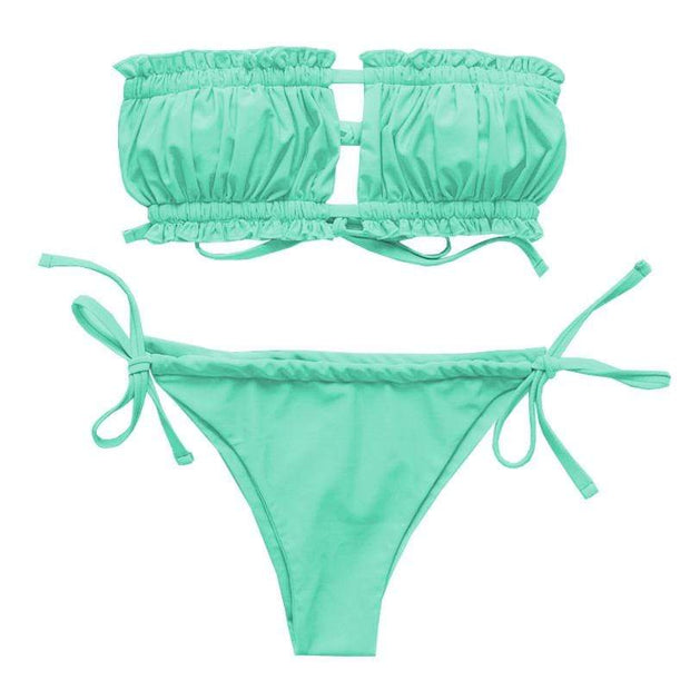 BISOUS WEAR SMALL / GREEN AINSLEY SET- GREEN