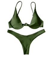 BISOUS WEAR small / green BREA SET