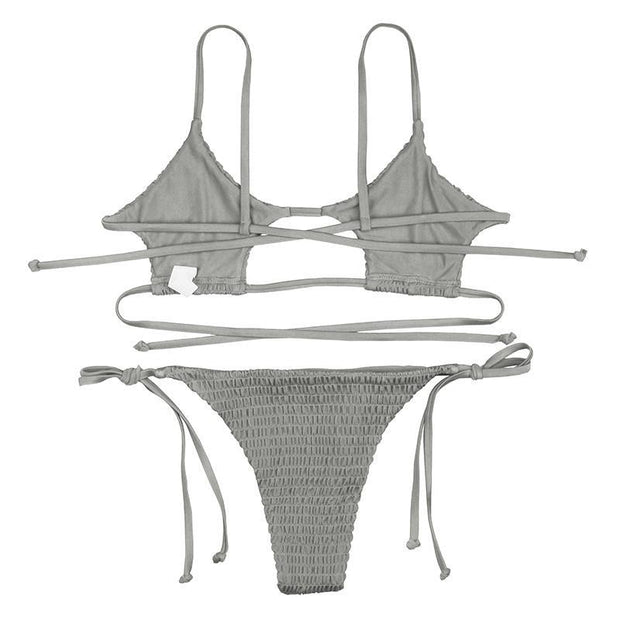 BISOUS WEAR SMALL / GREY BRIAR SET- GREY
