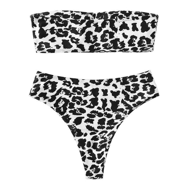 BISOUS WEAR SMALL / LEOPARD VIVIANA SET- LEOPARD