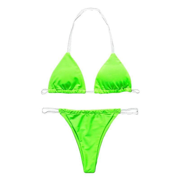 BISOUS WEAR Small / Neon Green LUCIA BIKINI SET- NEON GREEN