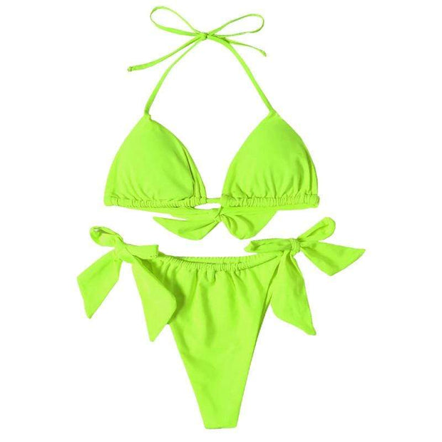 BISOUS WEAR Small / Neon Green SIERRA BIKINI SET- NEON GREEN