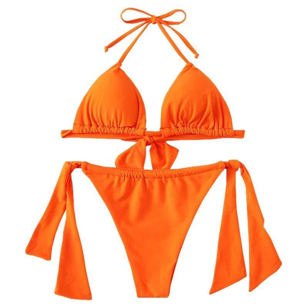 BISOUS WEAR Small / Orange SIERRA BIKINI SET- ORANGE