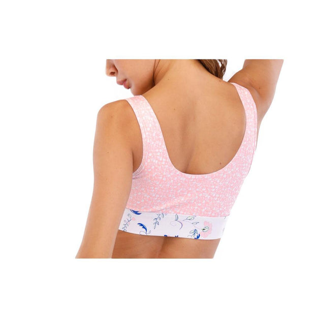 BISOUS WEAR Small / Pink Marble Alyza Sports Bra