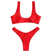 BISOUS WEAR Small / RED ARIKA SET - RED