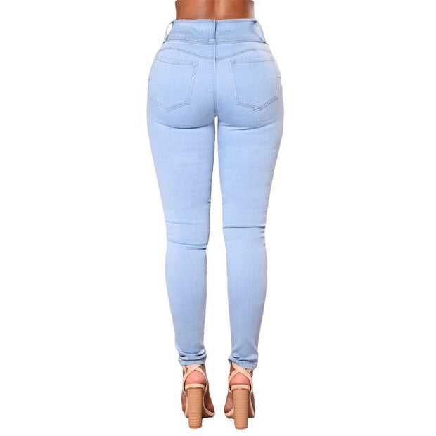 BISOUS WEAR SMALL / SKYBLUE OLIVIA JEANS - SKYBLUE