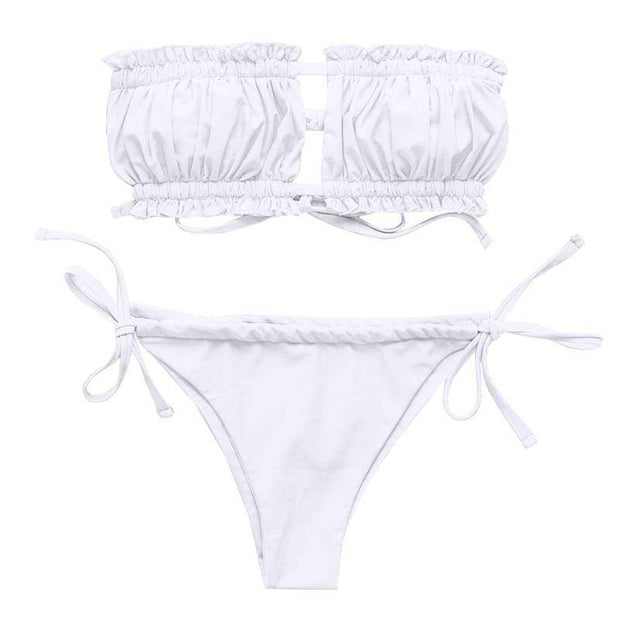 BISOUS WEAR SMALL / WHITE AINSLEY SET- WHITE