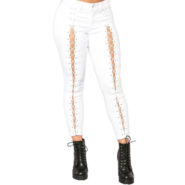 BISOUS WEAR SMALL / WHITE ALLISON JEANS