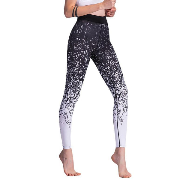 BISOUS WEAR SMALL / WHITE+BLACK JERIKA LEGGINGS