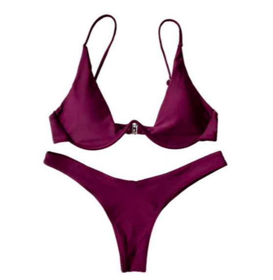 BISOUS WEAR small / wine BREA SET