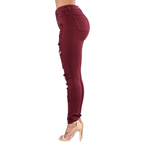 BISOUS WEAR SMALL / WINE HALSEY JEANS - WINE
