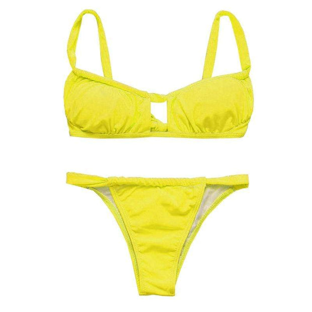 BISOUS WEAR Small / Yellow ADDISON BIKINI SET - YELLOW