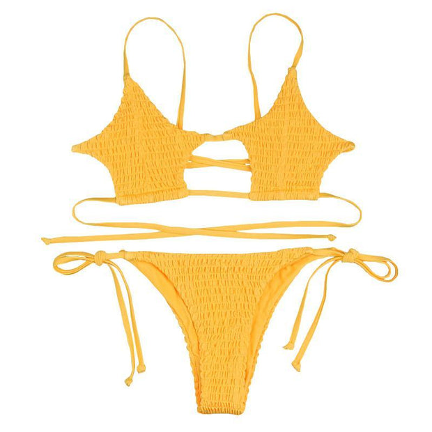 BISOUS WEAR SMALL / YELLOW BRIAR SET- YELLOW