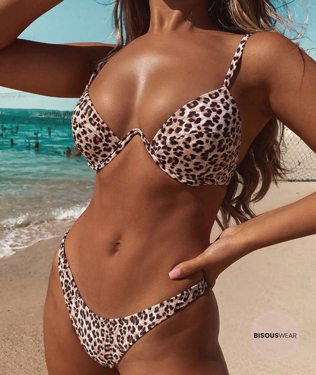 Bali Leopard Push-Up Underwire Bikini Set