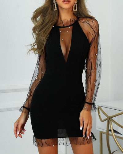 Blair Mesh Beaded Dress