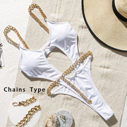 Bali Push-Up Chain High Waisted Bikini One-Piece