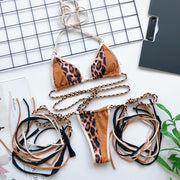 Jane Leopard String Bikini Set