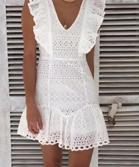 Addison Lace Cotton Dress