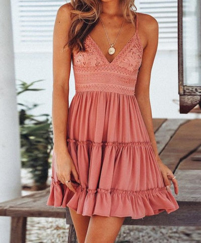 Everly Boho layers Dress