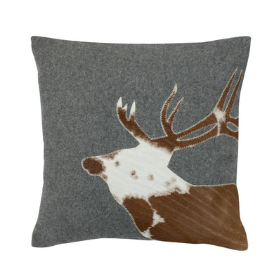 Vankúš WOOL DEER HEAD šedý