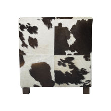 Kreslo COW dark brown / white