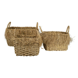 Sada 3 košov SEAGRASS basket fraying