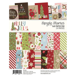 Paper Pad Simple Stories Collection Kit 6x8 Holly Jolly