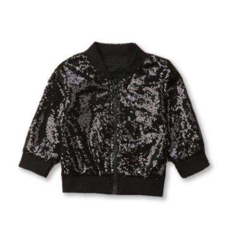 Black Glitz Sequence Jacket