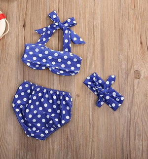 Blue Polka Dot Swim Suit