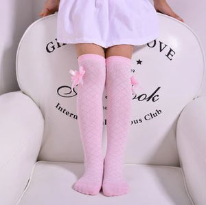 Lace Bowknot Over-the-Knee High Socks