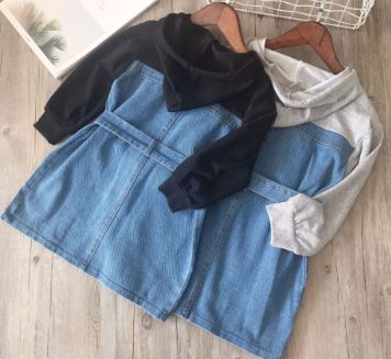 Denim Hoodie Dress