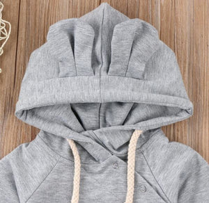 Grey Hooded Sweatsuit Jumper