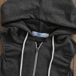Grey Hooded Jumper
