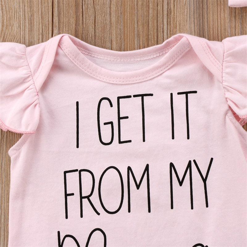 """I Get it From My Mama"" Onesie Set"