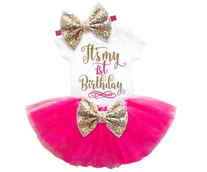 It's My 1st Birthday Outfit Set (Available in more colors)