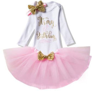 It's My 1st Birthday Outfit Set (Long Sleeve)