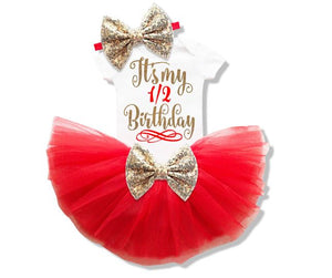 It's My 1/2 Birthday Outfit Set (Available in more colors)