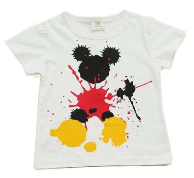 Mickey Paint Splatter Tee