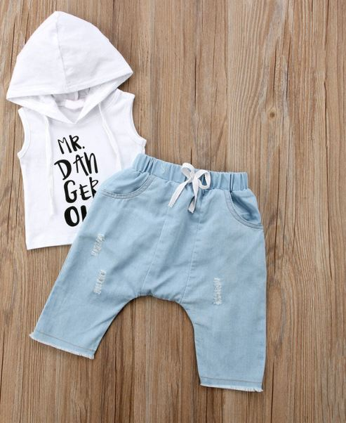 """Mr Dangerous"" Hooded Tank & Jogger Shorts Set"