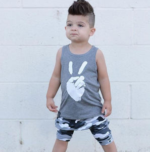 Peace Tank & Jogger Shorts Set