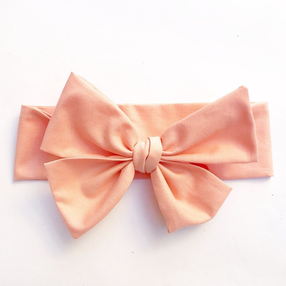 Peach Ruffled Off-the-Shoulder Top & Bow Set