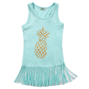 Pineapple Fringe Tank Top