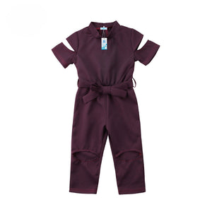 Plum Cut-Out Jumpsuit