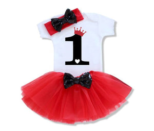Royal Red One Birthday Outfit Set