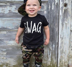 Swag Tee & Camo Pants Set
