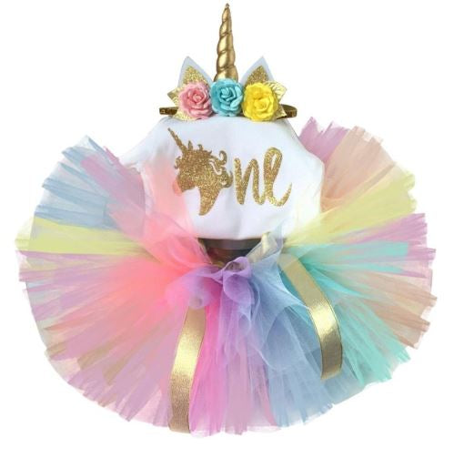 Unicorn Birthday Outfit Set