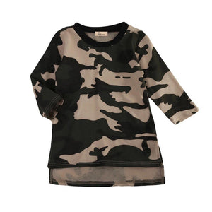 Camo High Low TShirt Dress