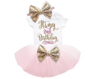 It's My 2nd Birthday Outfit Set  (Available in more colors)